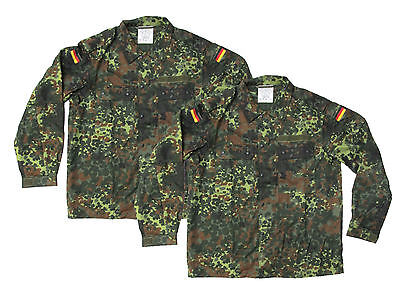 Lot of 2 Flecktarn Camouflage German Army Shirt/Jacket - NEW - SIZE GR10 (Large)