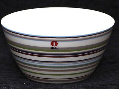 IITTALA ORIGO BEIGE Striped Vitro Porcelain Soup Dessert Bow Iittala Origo Dessert Bowl