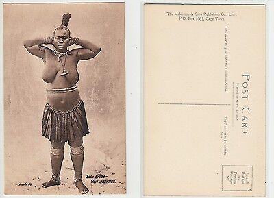 Süd Afrika,Zulu Nackte Frau,South Africa African Ethnic Native Female nude,c1915