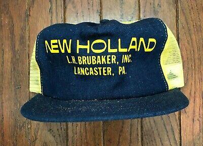 Vintage New Holland Mesh Trucker Hat Snapback Hat Baseball Cap USA Made