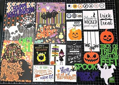 Project Life Halloween Kit (HALLOWEEN Scrapbook Kit! Project Life, Paper, die cuts, Trick or Treat,)