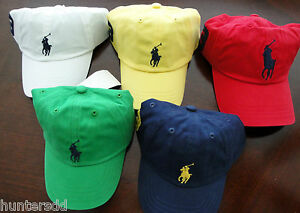 NWT-Ralph-Lauren-Polo-Boys-Classic-Chino-Big-Pony-Cap-Hat-Sz-4-4t-5-6-7-NEW-3g