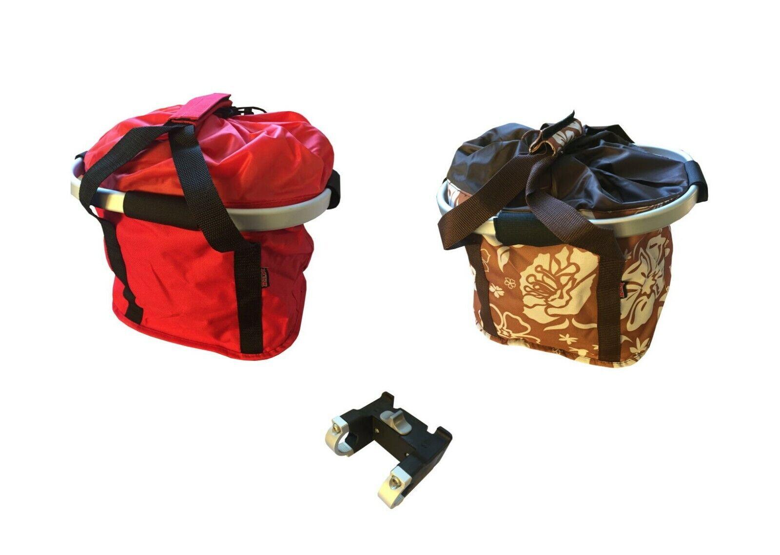 Lenkerkorb-Tasche Fahrradtasche Lenkertasche Einkaufskorb  Halterung abnehmbar