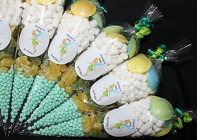 Party Bags Tinkerbell Themed Pre Filled Goody Cones Birthday Sweets Personalised