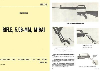 Rifle, M16A1 5.56MM 1970 Field-Manual F.M. 23-9