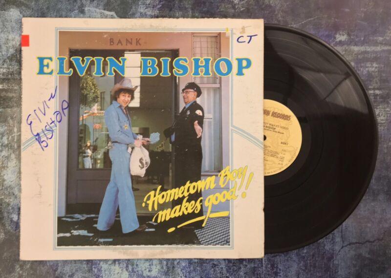GFA Hometown Boy Makes Good * ELVIN BISHOP * Signed Record Vinyl Album E2 COA