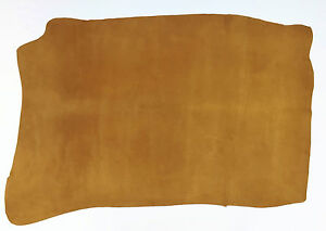 PIG SKIN SUEDE LEATHER 9.75 SQFT LONDON TAN 0.5MM THICK  SOFT VELOUR FEEL L4C