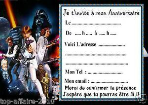 5 cartes invitation anniversaire star wars 08 d 39 autres en vente ebay. Black Bedroom Furniture Sets. Home Design Ideas
