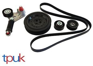 FORD MONDEO MK3 FAN BELT KIT CRANKSHAFT PULLEY 2.0 2.2 TDDi TDCi 2000 - 2007