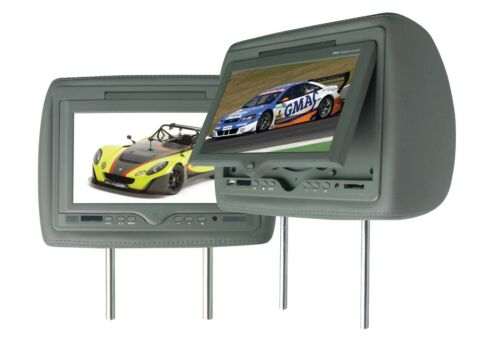 """PAIR OF BLACKMORE 9"""" HEADREST MONITOR WITH DVD NO CABLES JUST HEADREST"""