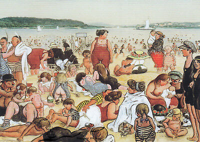 Kunstkarte: Heinrich Zille - Berliner Strandleben