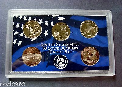 2004-S FIVE PROOF STATE QUARTERS CLEAN DEEP CAMEO'S SHIPPED IN MINT HOLDER 2-4