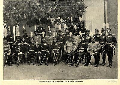 Balkankrieg Die Kommandeure der serbischen Regimenter c.1912