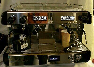 New Conti Cc100 Commercial Espresso Machine 2grp 220v  Black