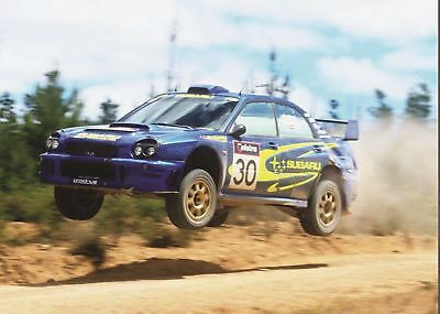 A3 Subaru Impreza WRC 10 Years Rally Wall Poster Art Picture Print