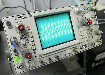 2-channel Tektronix 465 Dual-trace Portable 100mhz Oscilloscope Analog Waveform