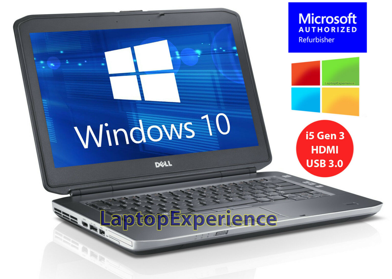 Laptop Windows - DELL LATITUDE E5430 LAPTOP WINDOWS 10 WIN DVD i5 2.5GHz 320GB HDMI NOTEBOOK PC