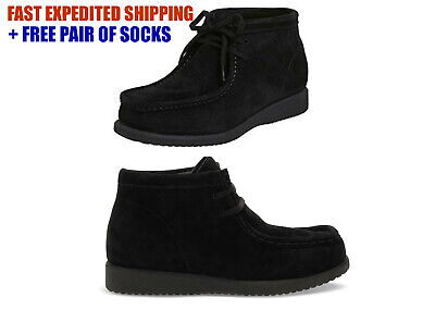 HUSH PUPPIES Boys Bridgeport SUEDE LEATHER Boots NEW IN BOX Black