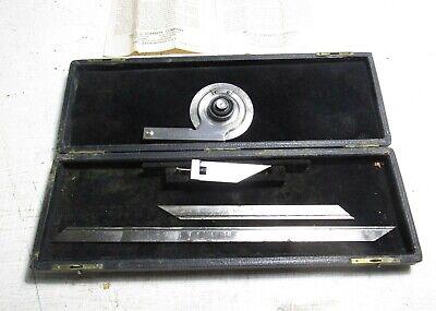 Starrett No. 359 Universal Bevel Protractor With 12 7 Rods