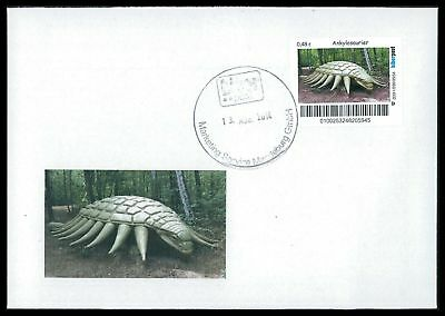 Dinosaurier-custom (GERMANY DINOSAUR DINOSAURI DINOSAURIER - CUSTOM STAMP - ONLY 2 COVER MADE!! cp23)