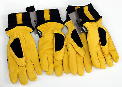 2 Pairs Mike Holmes Workwear Goatskin Thinsulate Winter Work Gloves Medium