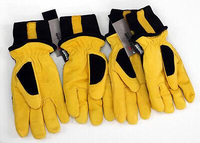 2 Pairs Mike Holmes Workwear Goatskin Thinsulate Winter Work Gloves Medium