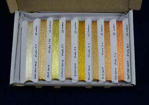 8 SHADE SELECTION PACK, JAPANESE REAL GOLD THREAD, 200M, 8x25M OF EACH GOLDWORK