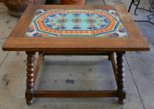 Tudor Vintage Tile Table California Persian Design