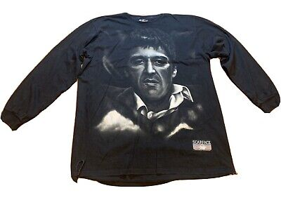 Vintage Scarface T-Shirt Graphic Tee Licensed 90s Tony Montana Gangs Men 2X