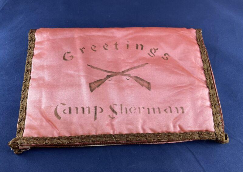 WWI Folk Art 1918 Correspondence Pouch Camp Sherman Chillicothe Ohio