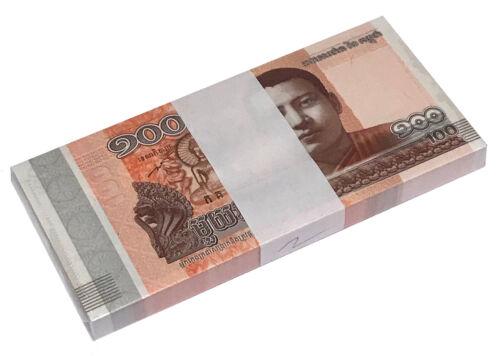 CAMBODIA 100 RIELS 2014 P NEW UNC BUNDLE OF (20 NOTES) 20 PCS