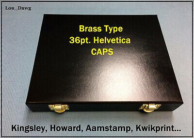 Kingsley Machine  36pt Helvetica Brass Type  Hot Foil Stamping - Bookbinding