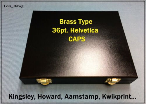 Kingsley Machine (  36pt Helvetica Brass Type  ) Hot Foil Stamping - Bookbinding