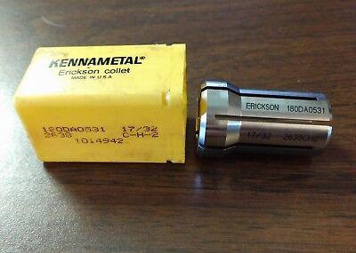 New Erickson Kennametal Collet 180da0531 1732