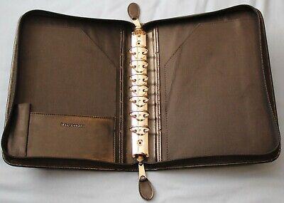 Black Classic Desk 7 - 1 18 Rings Sim. Leather Day-timer Zipper Planner Binder