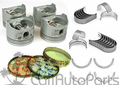 85-87 Corolla GTS MR2 1.6 DOHC 4AGEC 4AGELC Piston & Rings (+20) Engine Bearings