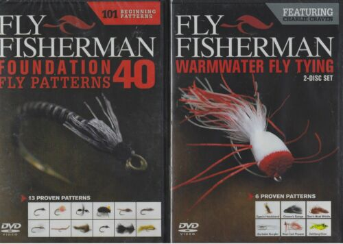 Fly Fisherman Foundation Fly Patterns Warmwater Fly Tying 2 DVD Lot NEW