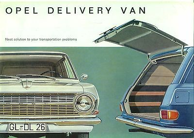 Opel Rekord B Delivery Van 1.5 & 1.7 1964 English original Sales Brochure
