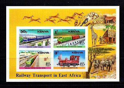 Kenya #67a (1976 Trains sheet) VFMNH imperforate CV $25.00