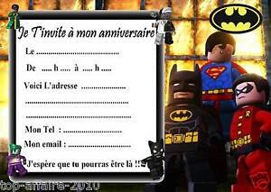 carte invitation lego