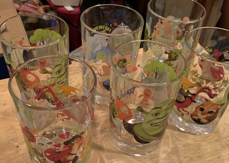 Shrek The 3rd, McDonalds Glasses Set Of Six