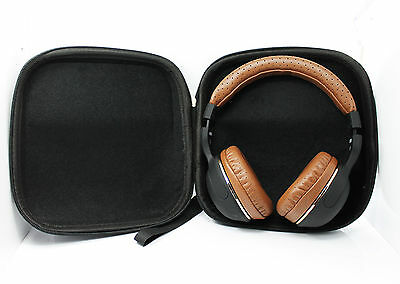 Hard Leather Carrying Case for Over-Ear Headphones Full Size Big Headset Black Cases, Covers & Skins