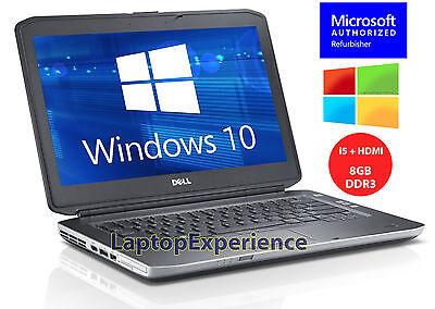 "Laptop Windows - DELL LAPTOP LATITUDE E5420 2.5ghz 8GB 320GB HD 14"" DVD WINDOWS 10 WiFi HDMI PC"