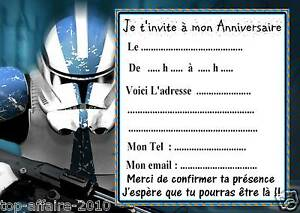 5 cartes invitation anniversaire star wars 011 d