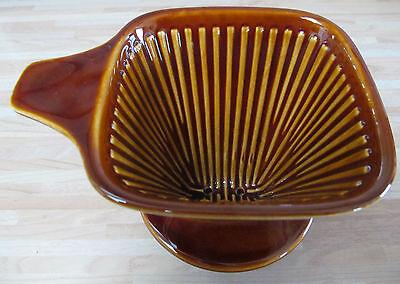 Kaffeefilter  Keramik  braun / dunkelbraun  Gr. 102  selten  eckige Form