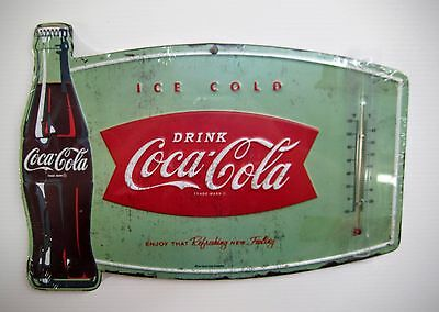Coca-Cola Fishtail Thermometer Sign - BRAND NEW!