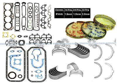 Fits 83-89 Toyota Corolla GTS FX MR2 Nova 1.6L Piston Ring Set 4AGE 4AGEC 4ALC