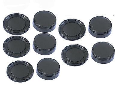 5pcs x Rear Lens Cover + Camera Body Caps for Nikon DSLR D3400 D3300 D3200 D3100 ()