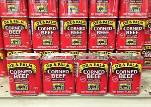 New OX and PALM Chunky Corned Beef 4 Cans The Best! Australian Beef! USA Seller!