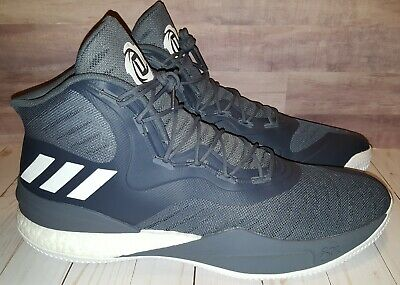 02053c2ce2b4 NEW Adidas D Rose 8 Basketball Shoes Mens SIZE 19 Grey White CQ1620 Derrick  Rose